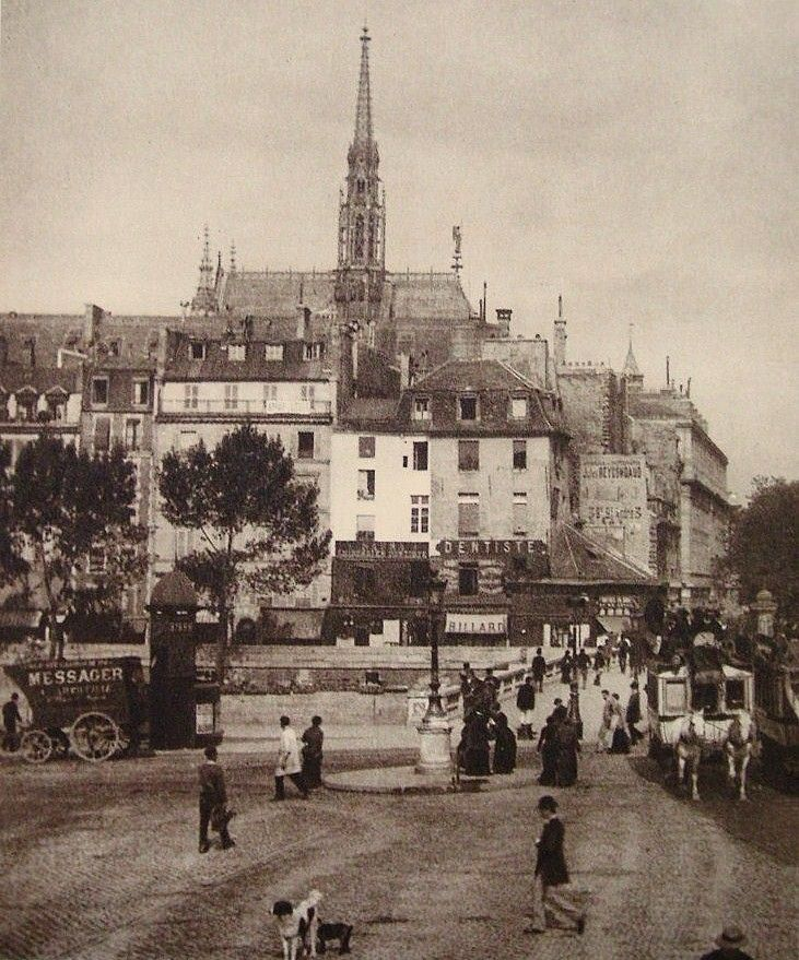 Paris 5e - La place Saint-Michel en 1860.