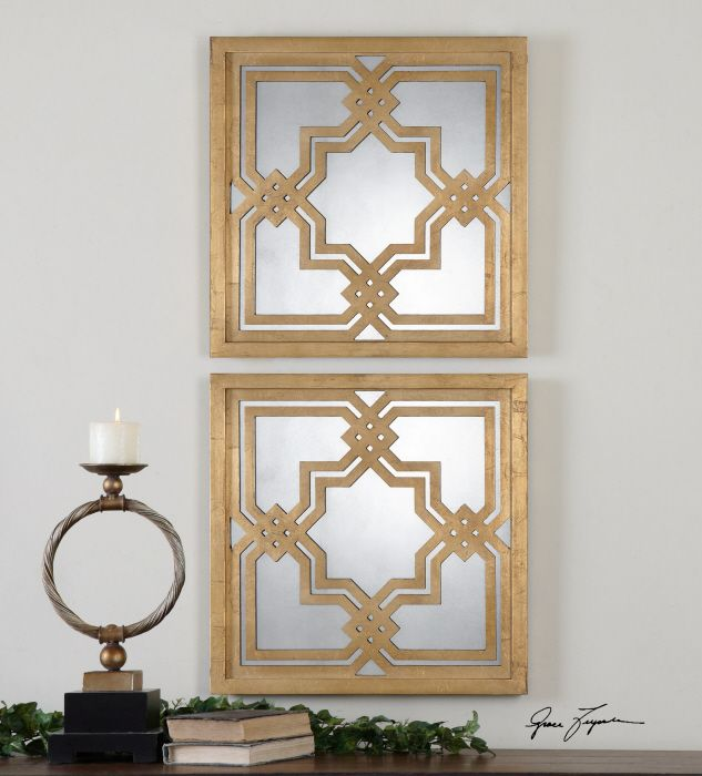 Uttermost Piazzale Gold Square Mirrors   Set Of 2   X In.   The  Aesthetically Pleasing Uttermost Piazzale Gold Square Mirrors U2013 Set Of 2 U2013  X In. Part 89