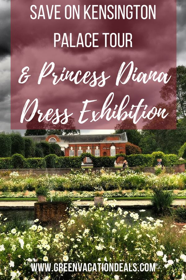 Things To Do In London - skip the line to visit Kensington Palace and see a Princess Diana dress exhibit! Tour Kensington Palace & Kensington Palace Gardens and enjoy the Diana: Her Fashion Story exhibit. Find out how to save on admission! London Travel Tips #KensingtonPalace #London #VisitLondon #PrincessDiana