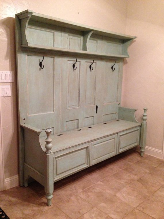 make built in storage with old door - Google Search