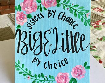 Canvas Board- Big Little Sorority Canvas/ sorority canvas/ dorm canvas/ greek/ big little canvas/ painted floral canvas/ hand painted