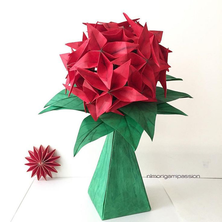 Flower In Paper Vase Nlm Origami Passion Garden Flowers
