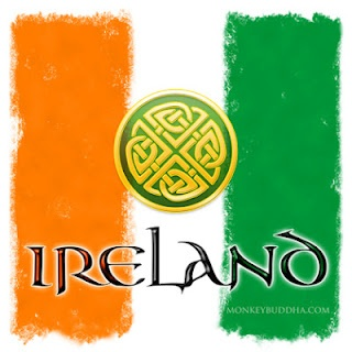 """Love the Celtic knot work and the font used in """"Ireland""""."""