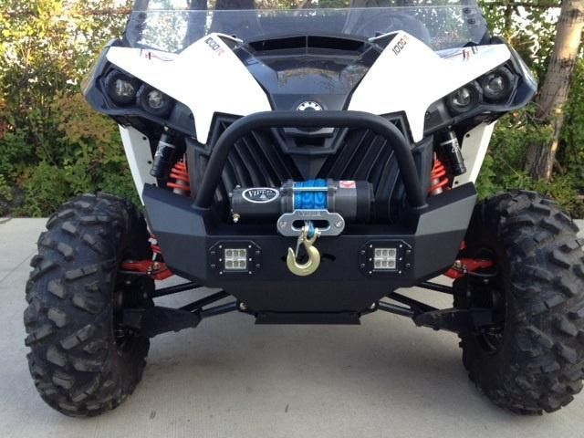 Can-Am Maverick Front Bumper/ Brush Guard with Winch Mount & LED Lights by EMP Extreme Metal Products