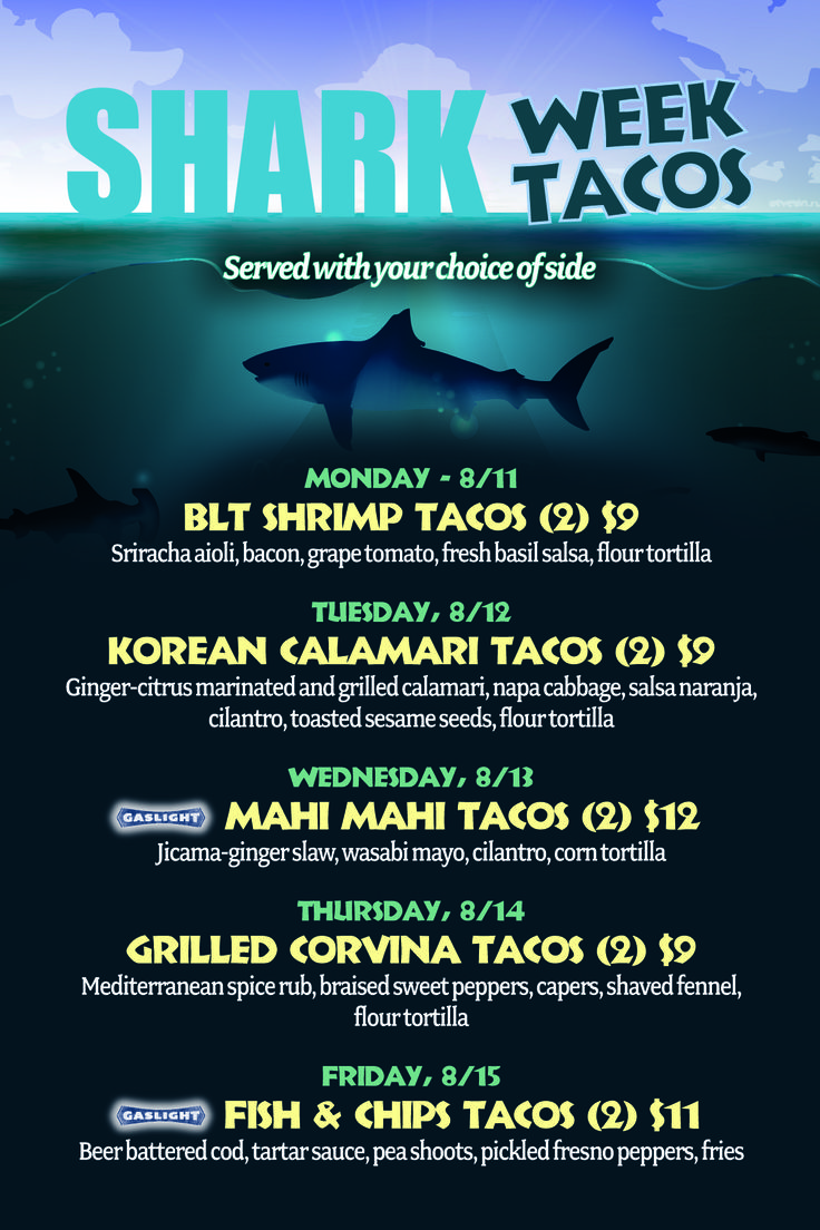5 Days of Specialty Fish Tacos
