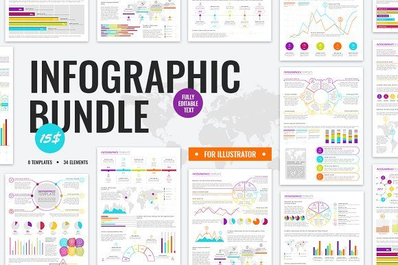 BIG INFOGRAPHIC BUNDLE by VitalexShop on @creativemarket