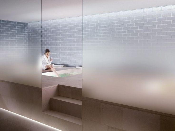 Il vetro a satinatura progressiva Madras® Nuvola per pareti ufficio