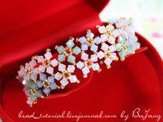 Crystal Beaded Bracelet tutorial