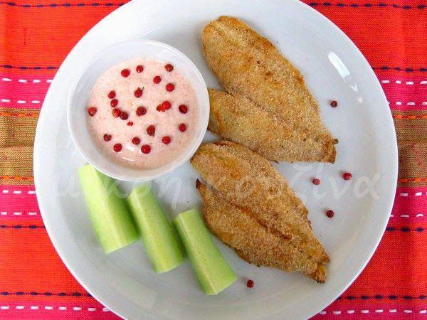 μικρή κουζίνα: Φιλέτα γλώσσας ψητά με κρούστα και ντιπ γιαουρτιού...
