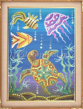 Как нарисовать подводный мир красками. Мастер-класс с фото