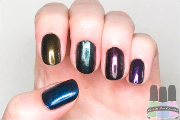 Reflexos Azulados, Reflexos Dourados, Reflexos Furta-Cor, Reflexos Rosados e Reflexos Violetas.