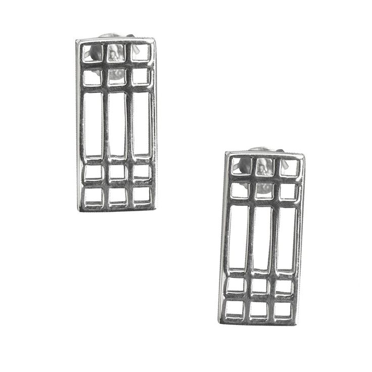 Cairn 504 Silver Rennie Mackintosh Earrings - 'Lattice'. Tarnish Resistant. British Made. Rennie Mackintosh Jewellery. *** You can get more details by clicking on the image.
