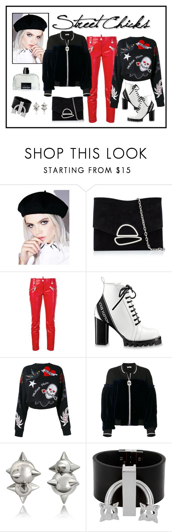 """""""Aviù Velvet Panel Bomber Jacket Look"""" by romaboots-1 ❤ liked on Polyvore featuring Ana Accessories, Proenza Schouler, Dsquared2, Philipp Plein, Aviù and COSTUME NATIONAL"""