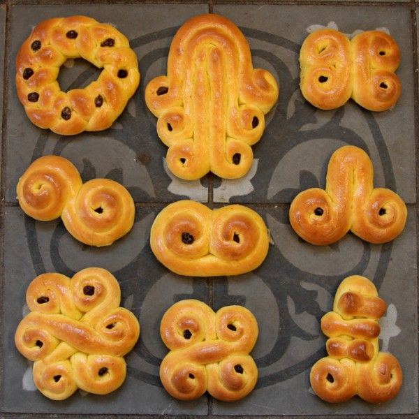 """Swedish """"Lussekatter"""". Traditional saffron buns that we eat around Dec 13 (Lucia) and throughout the Christmas days."""