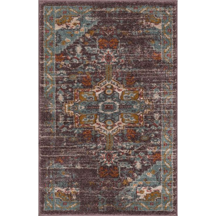 Laurent Chelsea Blue 2 ft. 3 in. x 3 ft. 11 in. Modern Tribal Vintage Farmhouse Accent Rug