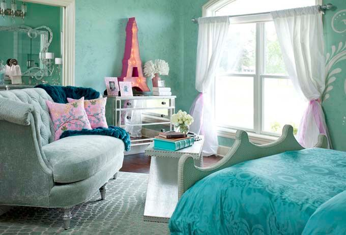 Turquoise Paris Themed Room Paris Themed Bedroom