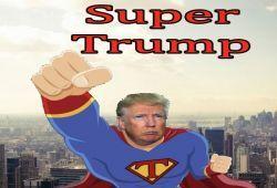 El todo poderoso SuperTrump tiene que volar la ciudad de NYC esquivando obstáculos e impedir que los malos se hagan con el control de la ciudad. ¡Vuela con Donald Trump vestido de Superman esquivando obstáculos!