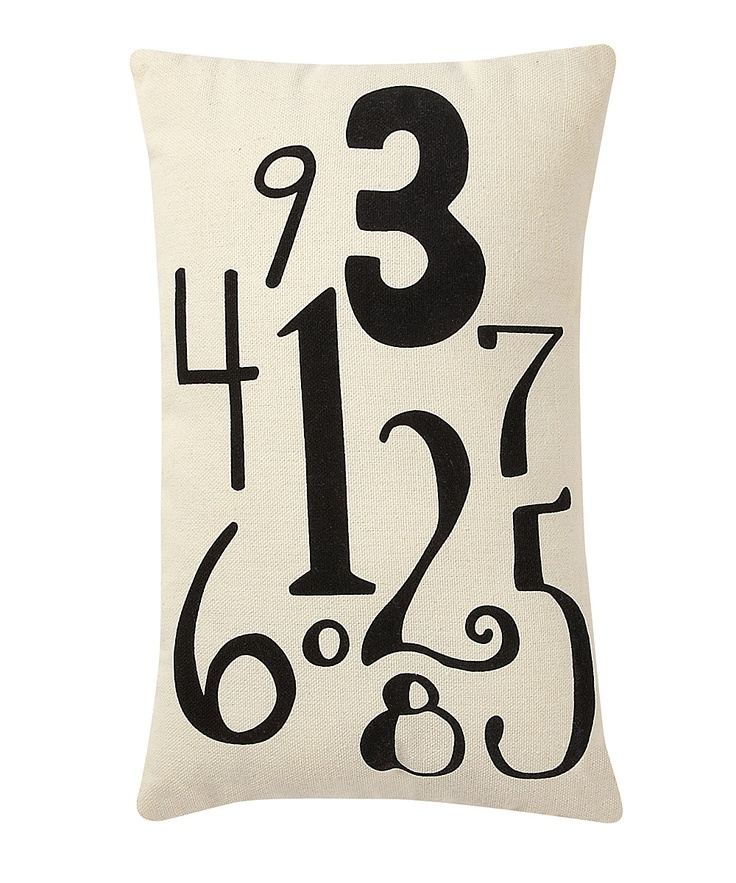 Throw Pillows With Numbers On Them : Collins Number Pillow Pillows, Ps and Numbers