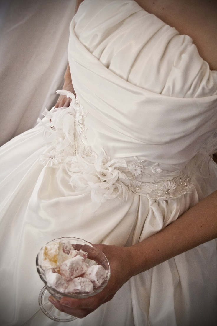 Ivory Taffeta gown with Pearl and lace detail - Made with love by Aplomb Couture