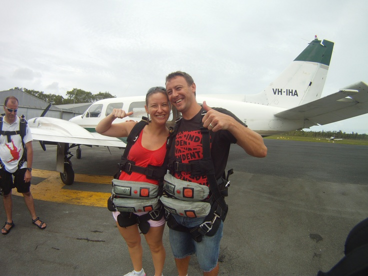 Just about to jump! At Sunshine Coast Skydivers