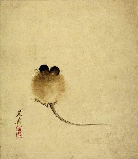 """Mouse"" Shibata Zeshin, about 1860's, Japan"