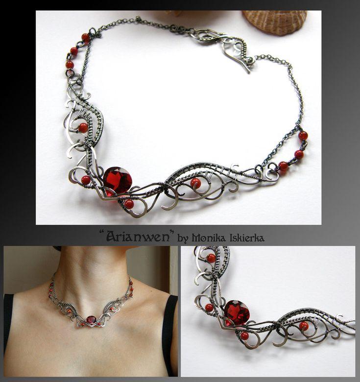 Rhiamon III- wire wrapped silver necklace by mea00 on DeviantArt