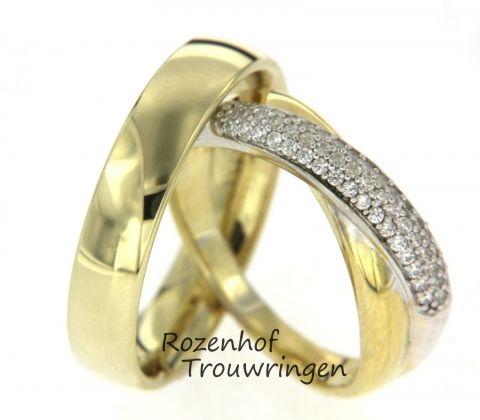 Prachtige trouwringen met stralende diamanten