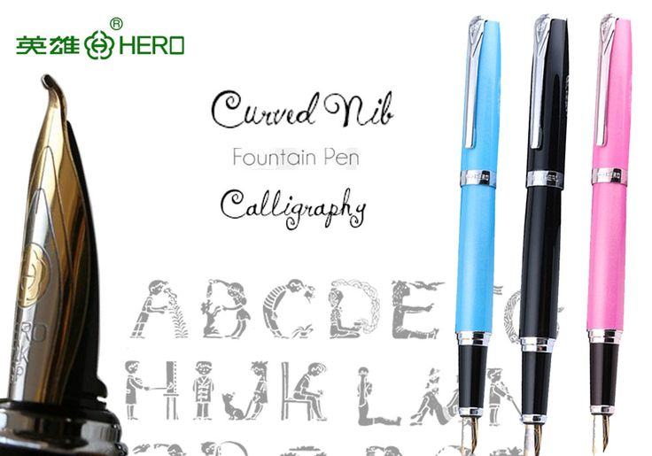 Calligraphy Fountain Pen Curved Nib HERO 382  office and school Top-rated art pens FREE  SHIPPING