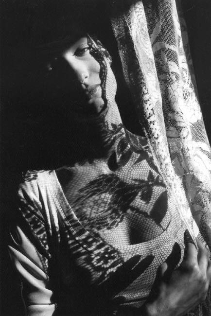 Marpessa photo by Ferdinando Scianna fashion catalogue for Dolce & Gabbana 1987 Sicilia