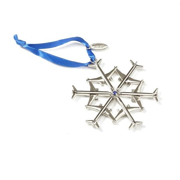 Jet Snowflake 2016 Waterford Nickel-Plated Ornament – The Boeing Store