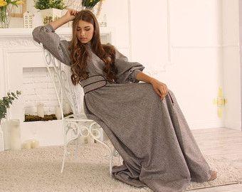Long dress/Maxi dress/Plaid dress/Tartan dress