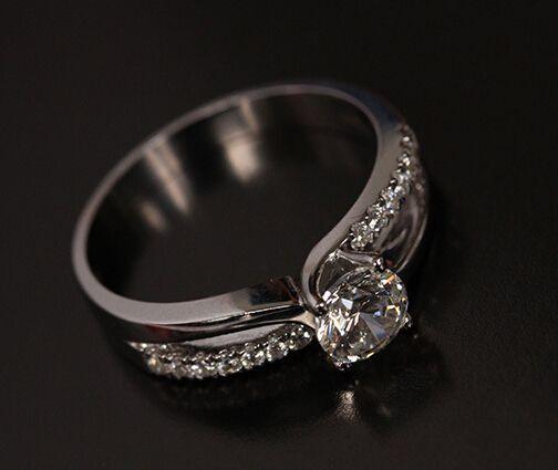 Бесплатная доставка pt950 модный solitare 1 СТ муассанит годовщина свадьбы кольцо для женщин ну вечеринку кольцо