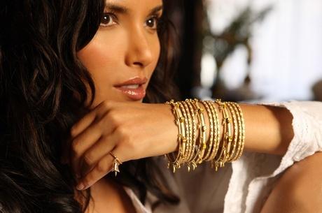 Padma Lakshmi, gorgeous, but really the bracelets...