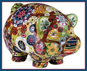 IMAX Folkart Piggy Banks http://theceramicchefknives.com/ceramic-piggy-banks/