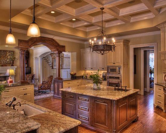 Kitchen dream home pinterest kitchens and kitchen for Warm kitchen designs