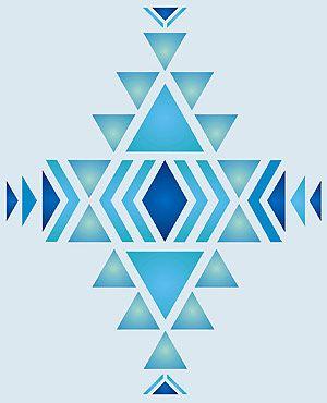 Navajo Art Design Stencil  T