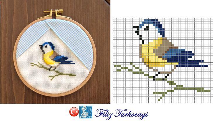 Renkler aynıdır...Designed and stitched by Filiz Türkocağı...