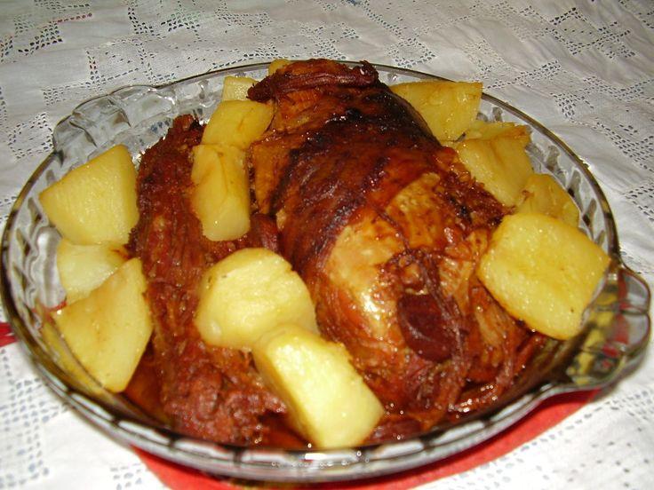 Receita de Carne assada com batatas. Enviada por Haline e demora apenas 70 minutos.