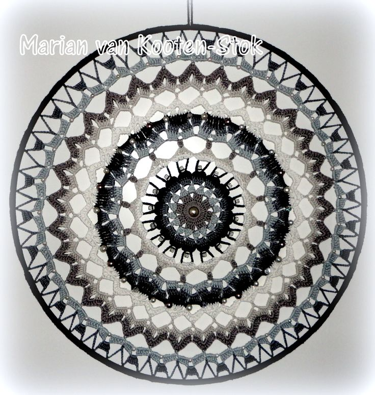 Crochet mandala or suncatcher. I used this patttern http://www.pinterest.com/pin/126734176987643122/
