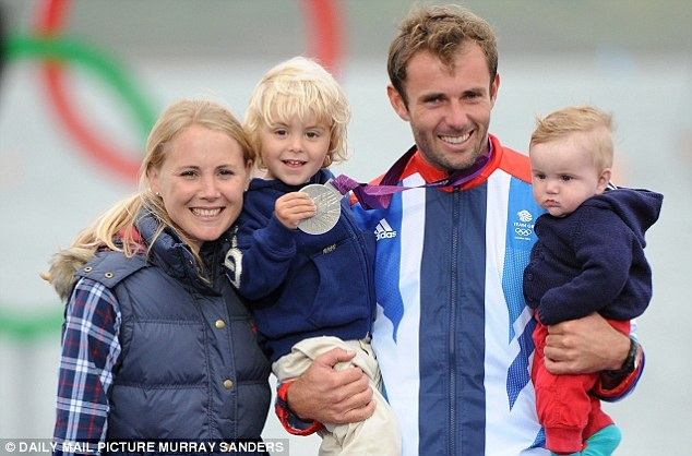 Family fortunes: Nick Dempsey with his wife Sarah, three-year-old son Tom and five-month-old Oscar