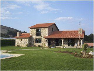 casa rstica de piedra de planta y media de dormitorios