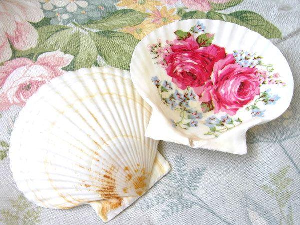 decoupage shell