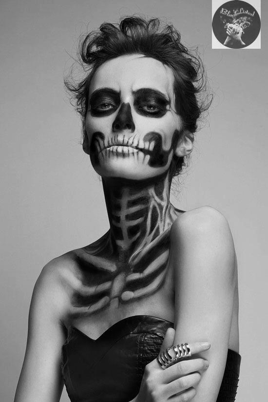 Face art - disguised as skeleton