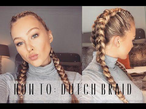 getlinkyoutube.com-How To: Dutch Braid Your Own Hair   Hollie Hobin