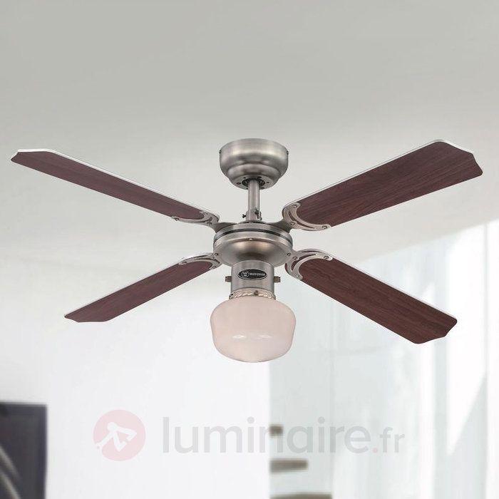 Portland Ambiance EL - ventil. de plaf. a. lumière, référence 9602265 - Ventilateurs de plafond ou à poser chez Luminaire.fr !