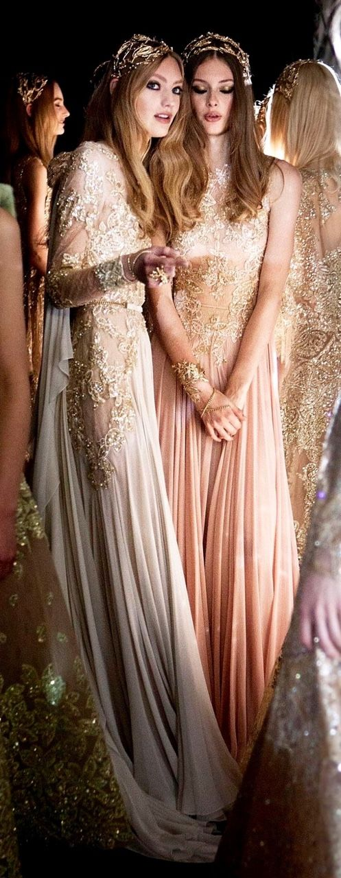 our covelles. notordinaryfashion:  Backstage at Elie Saab Haute Couture Fall 2015