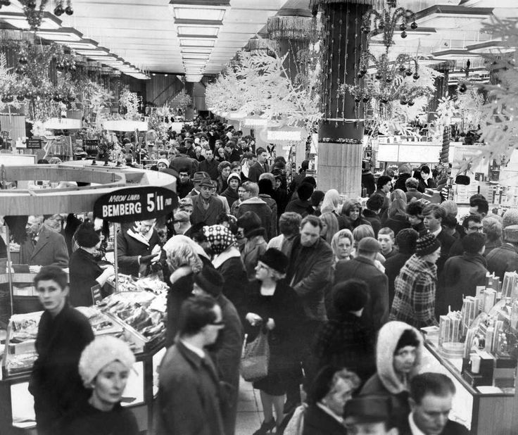 Christmas Shoppers at Lewis Department Store, Liverpool, 2nd December 1966.