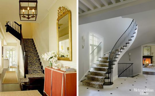 RAWR: 35 Exmaples of Animal Print Rooms    This photo: Animal Print Stair Runners.