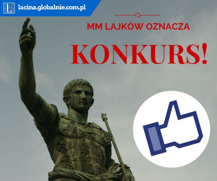 Obiecałem sobie - a teraz obiecuję Wam - że jak facebookowy fan page Łacina globalnie będzie miał 2000 fanów, zorganizuję konkurs z bardzo fajnymi łacińskimi nagrodami :))) A zatem jeśli jeszcze nie polubiliście tej strony, teraz jest najlepszy moment. Lajkujcie, udostępniajcie, polecajcie! Im szybciej dobijemy do okrągłej liczby MM, tym szybciej odbędzie się konkurs :D:D:D:D #konkurs #łacina #nagrody #facebook #fb #konkursy #jezykiobce #łacinaglobalnie #lacinaglobalnie
