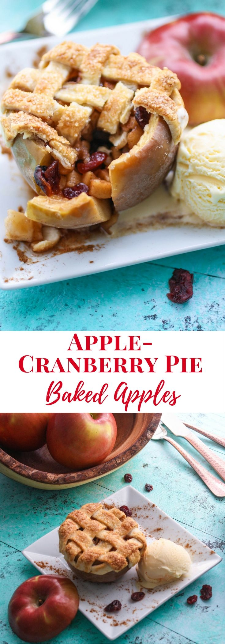 Apple-Cranberry Pie Baked Apples | Recipe | Apple ...